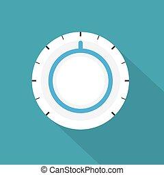 control knob icon - vector illustration