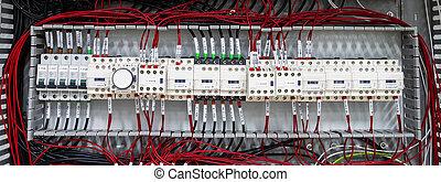control, nuevo, cableado, panel