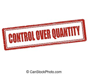 Control over quality - Rubber stamp with text control over...