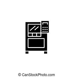 Control panel black icon concept. Control panel flat vector symbol, sign, illustration.