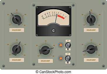 Control Panel - Editable vector illustration of analog ...