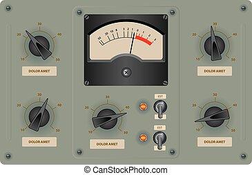Control Panel - Editable vector illustration of analog ...