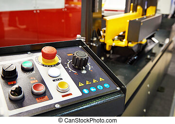 Control panel for industrial machine