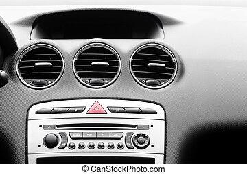 Control panel in modern car