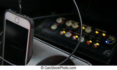 Control panel in the car - Audio control panel in car