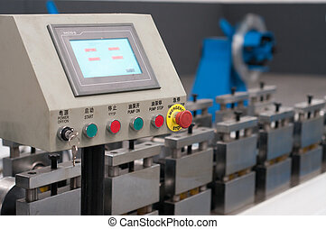 Control panel - Machinery in a metal workshop