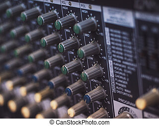 Control panel of a vintage research device