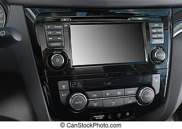 control panel of car - control panel of audio player and...