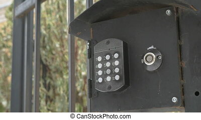 Control panel of the modern intercom system