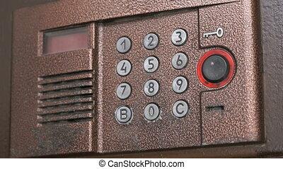 Control panel of the modern intercom system