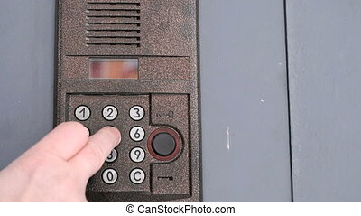 Control panel of the modern intercom system - The control...