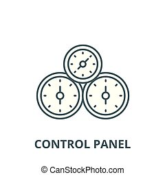 Control panel vector line icon, linear concept, outline sign, symbol