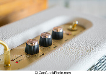 control, perilla, hola fiel, amplificador, volumen