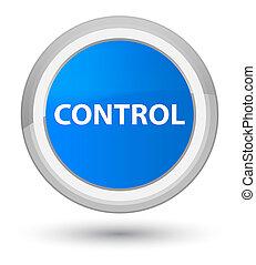 Control prime cyan blue round button