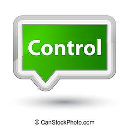 Control prime green banner button