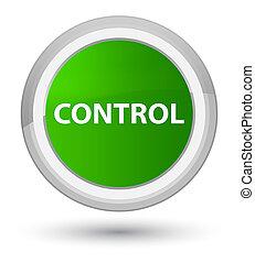 Control prime green round button