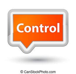 Control prime orange banner button