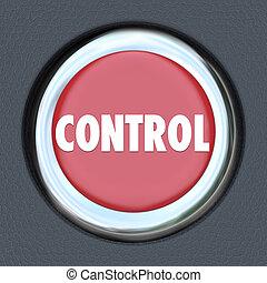 Control Red Car Start Button Leader Manager Supervisor Oversight