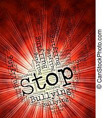 control, representa, parar la muestra, intimidar, advertencia