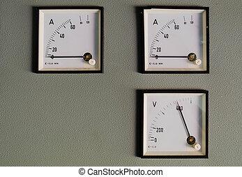 control, room., instrumentation., panel