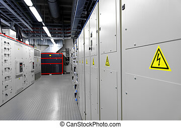Control room of a power plant