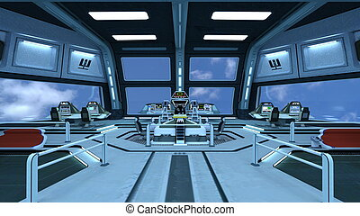 Control room - Image of space station control room