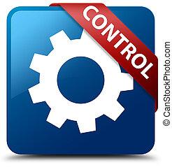 Control (settings icon) blue square button red ribbon in corner