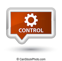 Control (settings icon) prime brown banner button