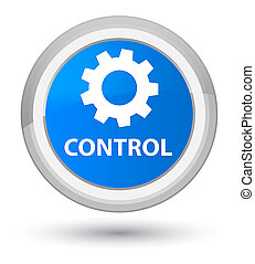 Control (settings icon) prime cyan blue round button