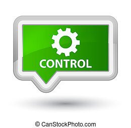 Control (settings icon) prime green banner button