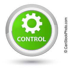 Control (settings icon) prime soft green round button
