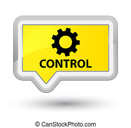 Control (settings icon) prime yellow banner button