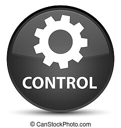 Control (settings icon) special black round button