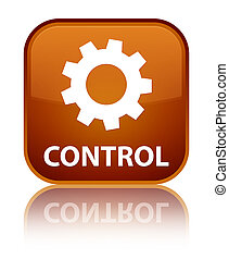 Control (settings icon) special brown square button