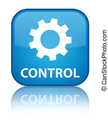 Control (settings icon) special cyan blue square button