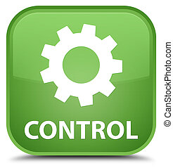 Control (settings icon) special soft green square button