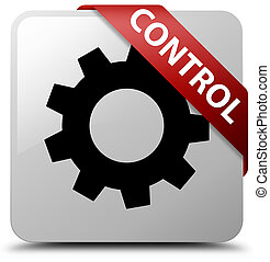 Control (settings icon) white square button red ribbon in corner