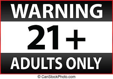 control, solamente adultos, paternal