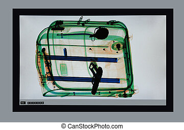 Control Suitcase - X-ray Screenshot in the airport on the...
