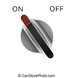 A control switch isolated against a white background