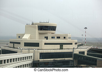 Control tower in the airport