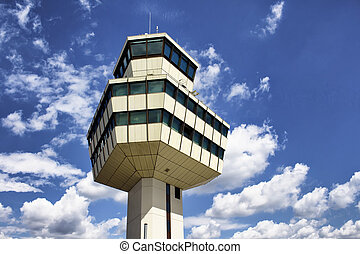 Control tower of Tegel airport in Berlin