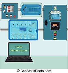 Control Ventilation Installation - Controls ventilation...