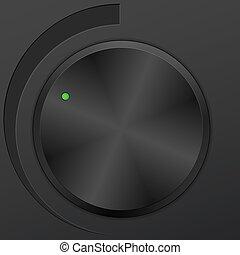 knob - Control volume knob. Vector illustration.