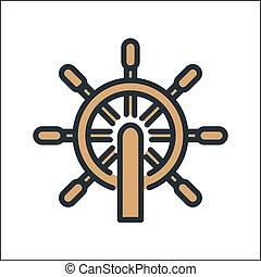 control wheel icon color