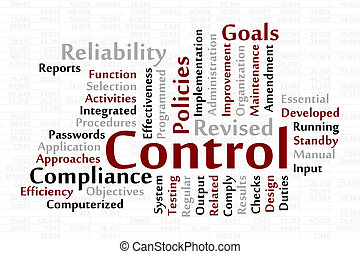 Control word cloud with data sheet background