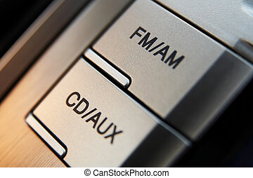 controle, auto, cd-radio, knopen