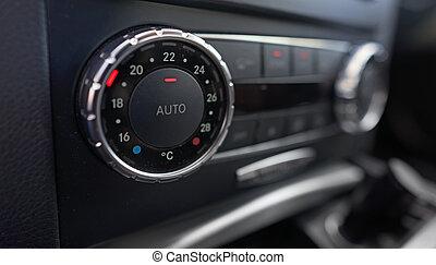 controle, auto, klimaat, details