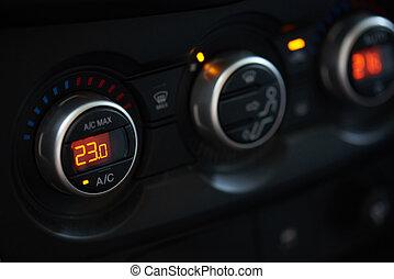 controle, auto, klimaat