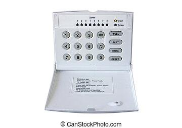 controle, caixa, alarme